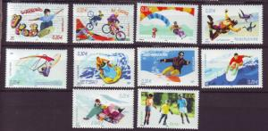 J20476 Jlstamps 2004 france set mnh #3045a-j sports