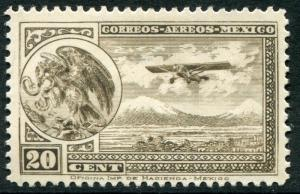 MEXICO ~ #C13 Very Nice Mint Light Hinged Issue COAT OF ARMS AIRPLANE ~ S5492