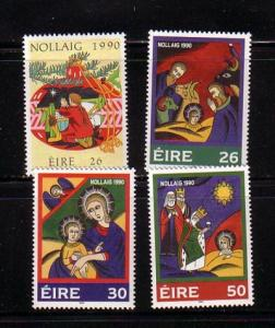 Ireland Sc 818-1 1990 Christmas stamp set mint NH
