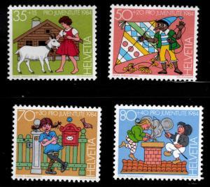 Switzerland Scott B509-B512 MNH** 1984 Fairy tale semi postal set