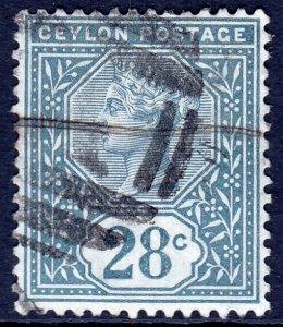 Ceylon - Scott #139 - Used - Pencil on reverse - SCV $1.50