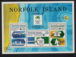 Norfolk Ships Aircraft 'Sydpex '88' National Stamp Exhibition Sydney MS SG#MS447