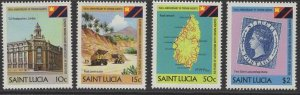 ST.LUCIA SG637/40 1983 150TH ANNIV OF CROWN AGENTS MNH
