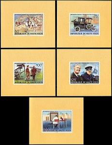 Upper Volta 346-350, MNH deluxe sheets, Birth Centennial of Churchill