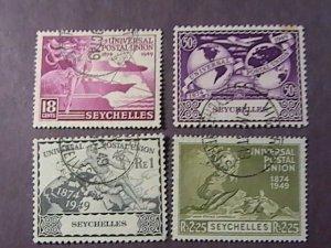 SEYCHELLES # 153-156-USED----COMPLETE SET----1949
