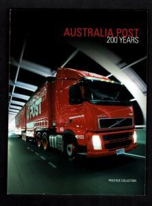 Australia: 2009, Bicentenary of Postal Services in Australia, Prestige Booklet