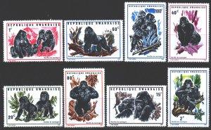 Rwanda. 1970. 400-7. gorilla fauna. MNH.
