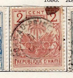 Haiti 1898 Early Issue Fine Used 2c. 100935
