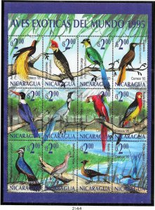 Nicaragua #2044  Birds  Sheet of 12 (MNH) CV$7.25