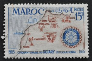DYNAMITE Stamps: French Morocco Scott #309 – USED