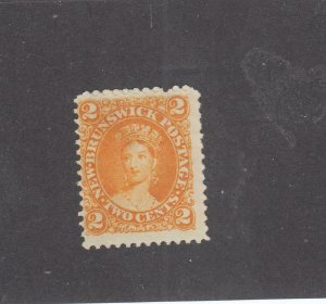 NEW BRUNSWICK # 7 F-MNG MISS PERF 2cts 1863 QUEEN VICTORIA /DP ORG /CENTS ISSUE
