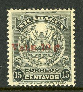Nicaragua 1910 Provisional 10¢/15¢ ABNC Scott 250  MNH  L838