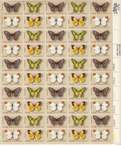Stamp US Sc 1712-5 Sheet 1977 Butterfly Swallowtail Checkerspot Orange Tip MNH