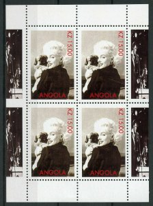 Angola Marilyn Monroe Stamps MNH Famous People Movie Stars Celebrities 4v M/S