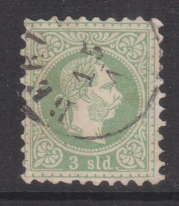 AUSTRIAN PO TURKEY, 1867 Coarse Whiskers, 3sld. Green, BERUTH