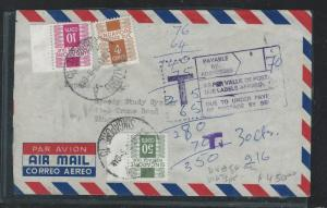 SINGAPORE (P1910B)1979 POSTAGE DUE COVER WITH GOOD 4C+10C, ALSO 50C+1C BL 6