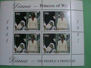 SCOTLAND STAMP-1997-DIANA- PRINCESS OF WALES -MOTHER THRESA-MINT-NH  S/S  SHEET