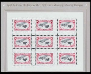 US 1998 $1 3209 $1.00 Re-Issue Trans-Mississippi Mint Stamp Sheet