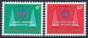UN New York Scott # 197 - 198 MNH