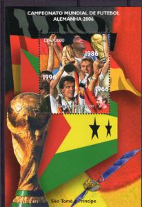 Sao Tome and Principe 2006 World Cup Germany 2006 S/S Perforated MNH