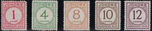 Malaya-Johoie 1938 SC J1-J5 Mint SCV $227.50 Set