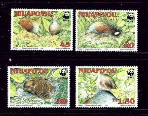 Tonga-Niuafoou 152-55 MNH 1992 Birds