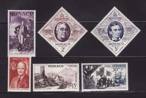 Monaco 354-359 MH FIPEX Stamp Expo