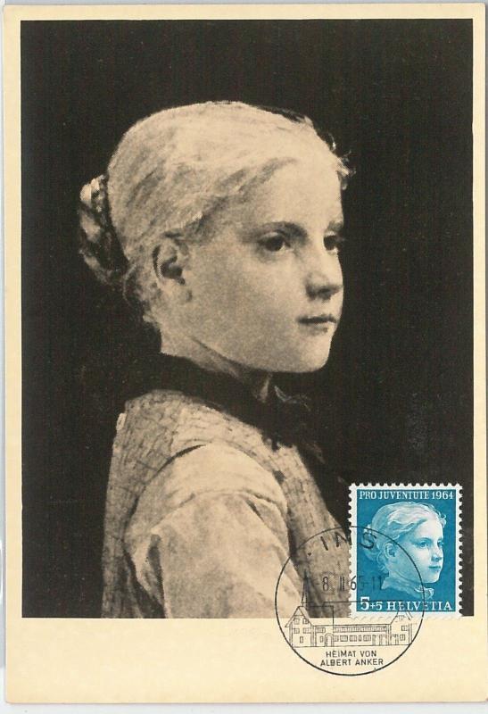 59116  -  SWITZERLAND - POSTAL HISTORY: MAXIMUM CARD 1965  -  ART