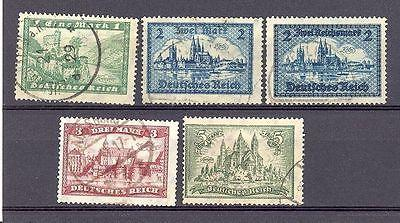 Germany #337-9, 350, 387 Used