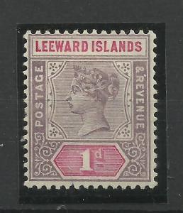 Leeward Is 1890 Sg 2, 1d Dull Mauve & Rose (Crown CA) perf 14, M/Mint {C/W 348}