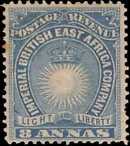 British East Africa Scott 23 Unused hinged.
