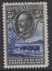 BECHUANALAND SG109 1932 5/= BLACK & ULTRAMARINE MTD MINT