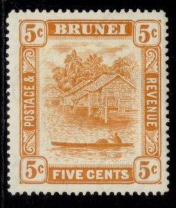 BRUNEI GVI SG82, 5c orange, M MINT.