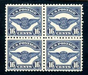 USAstamps Unused XF US Airmail Emblem Fresh Block Scott C5 OG MNH