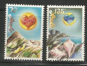 ARUBA  36-37  MINT  HINGED, LOVE ISSUE