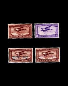 VINTAGE: EGYPT 1929 OG NH,LH,SCOTT #C1-4 $229 LOT #1929FDR