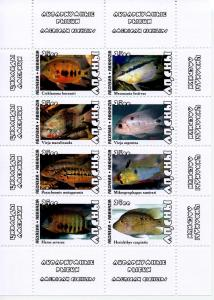 ABKHAZIA RUSSIA LOCAL SHEET MARINE LIFE