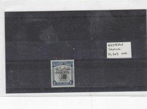 western samoa mm stamp  Ref 9374