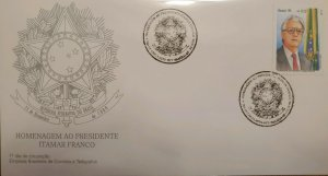 A) 1995, BRAZIL, TRIBUTE TO PRESIDENT ITAMAR FRANCO, FDC, ECT