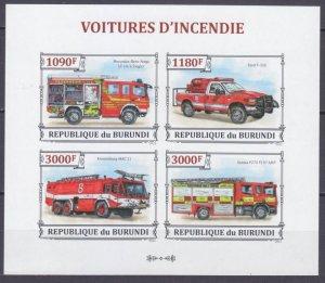 2013 Burundi 3298-3301KLb History of fire trucks 15,00 €