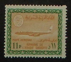 Saudi Arabia C69. 1966 11p Green and bister, Faisal Cartouche