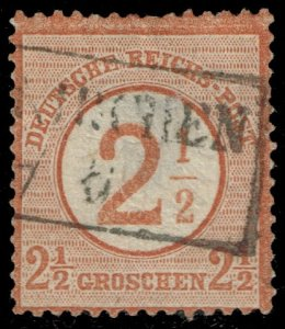 Germany #27 Imperial Eagle Surcharged; Used (1Stars)