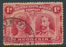 British South Africa Company / Rhodesia  SG 124 Used perf 14 see scans & details