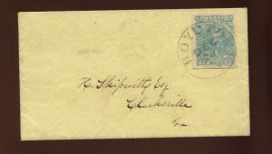 Confederate States 2a Used Stamp on Cover BOYDTON TN CCL (Stock CSA2-CVR A1)