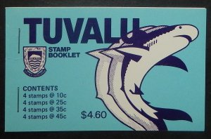 Tuvalu 102, 105, 107, 108. Unexploded booklet, NH