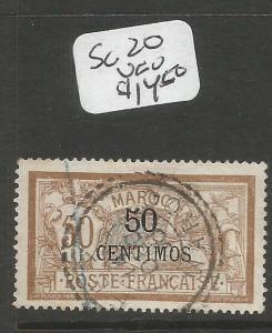 French Morocco SC 20 VFU (9csb)