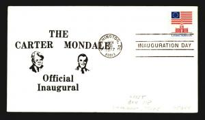 1977 Carter Mondale Inauguration Cover - Washington DC CDS - Z14277