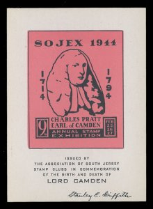 SOJEX 1944 (9th) Stamp Show - MINT, Never Hinged, F-VF or Better