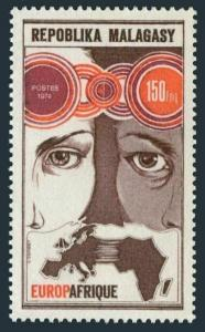 Malagasy 510,MNH.Michel 724. EUROPAFRIQUE-1974.Faces,Links,Map.
