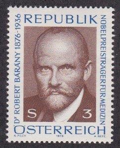Austria #  1031, Nobel Prize Winner, Dr. Robert Barany NH, 1/2 Cat.